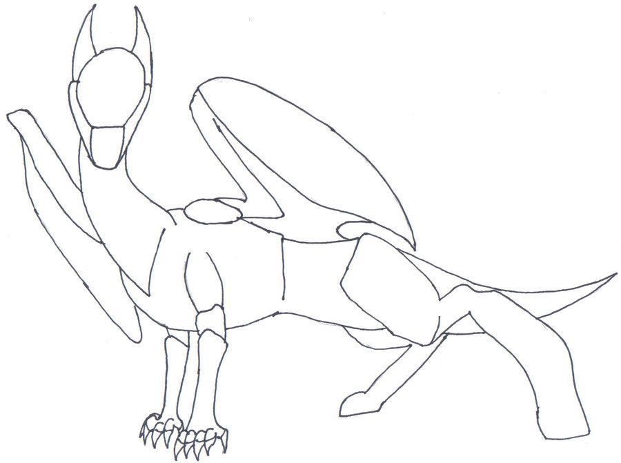 900x671 Basic Dragon Lineart By Fierysurferchick