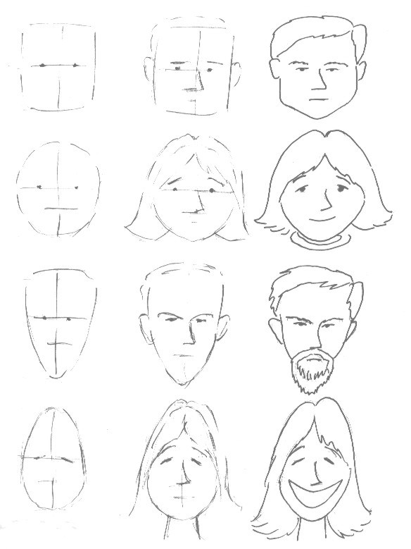 584x779 Basic Face Drawing Lesson