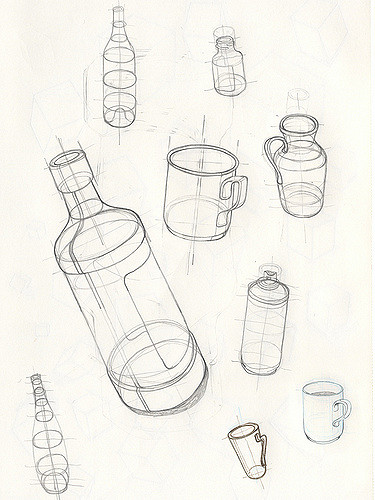 375x500 Basic Bottle Drawings More Basic Drawing From My Re Teach
