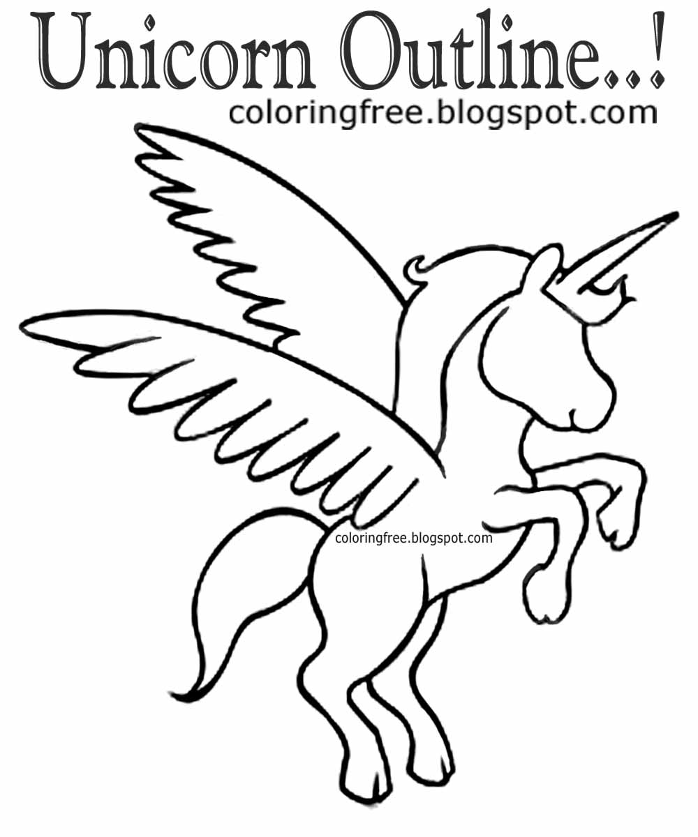 1000x1200 Printable Unicorn Drawing Mythical Coloring Book Pictures For Kids