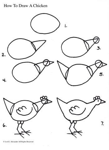 350x482 Draw A Chicken Kids Activities Kid Activities