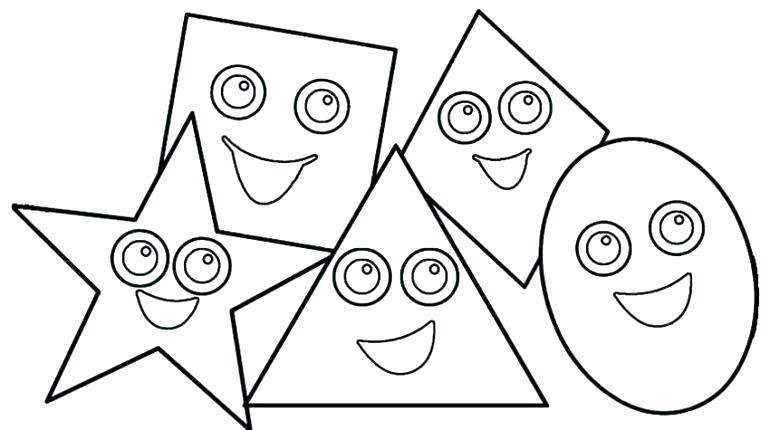 770x430 Best Of Shapes Coloring Pages Pictures Drawing Basic Shapes