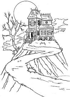 230x320 Haunted House Drawing Ideas