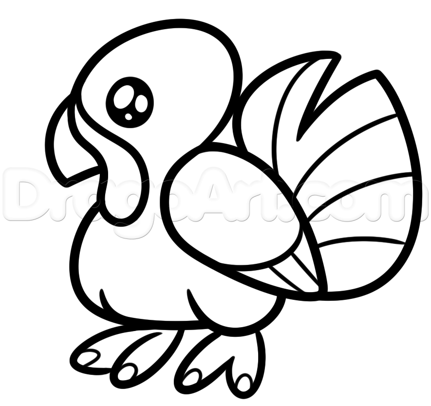 Basic Turkey Drawing at GetDrawings.com | Free for