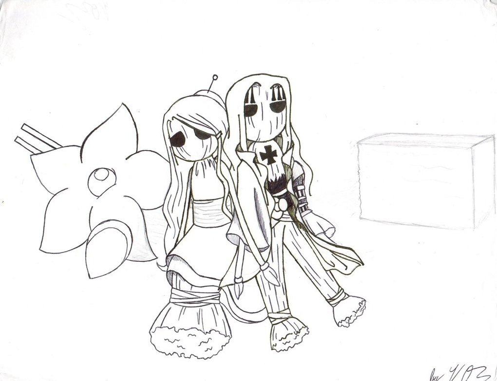 1020x783 Drawing Of Rin And Basil Hawkins As Voodoo Dolls By Proxamina