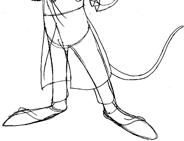 600x458 How To Draw Basil From The Great Mouse Detective With Easy Step By