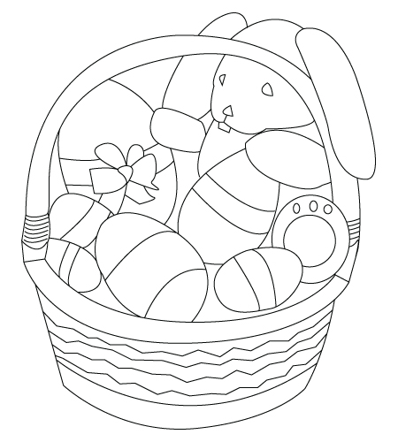 450x500 Basket Drawing To Color