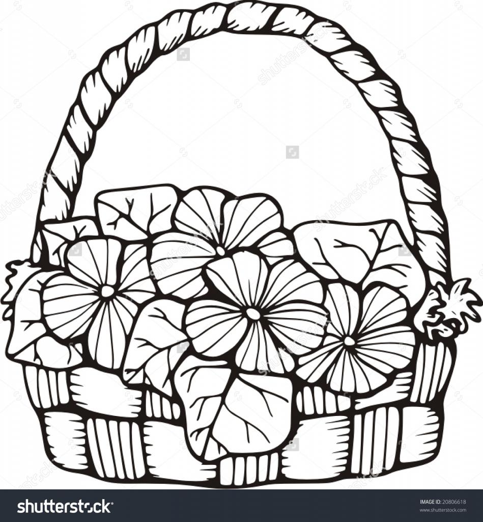 949x1024 Drawings Of Flower Basket