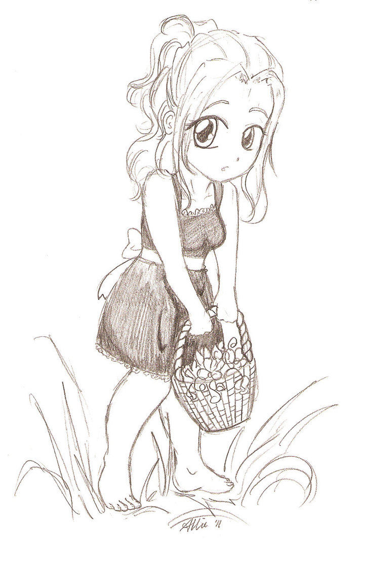 721x1109 Girl With A Flower Basket By Limpinggnome