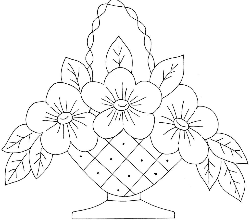 1024x901 Pencil Drawings Of Flower Basket Pencil Drawing Of Flower Basket