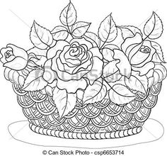 236x220 Pictures Pencil Drawing Of Flower Basket,