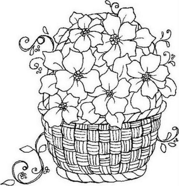 577x600 Panier Fleurs Pergamano Bouquets Flower Basket