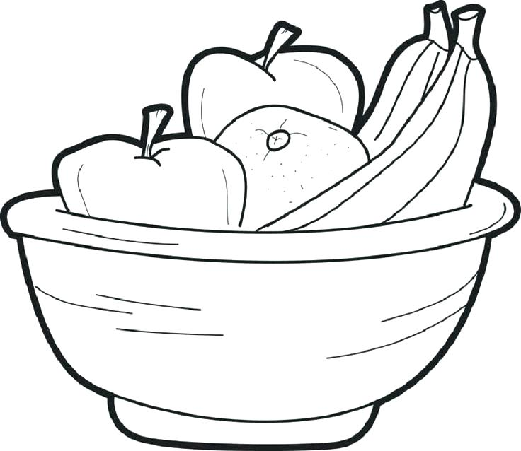 736x638 Fruit Basket Coloring Pages Printable