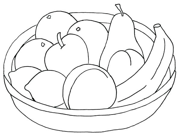 600x450 Fruit Basket Coloring Pages Fruits Lovely Ideas