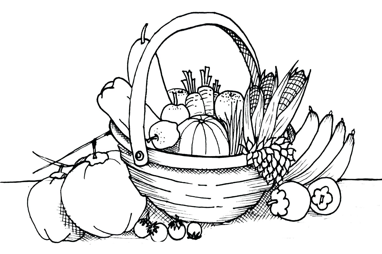 Basket Of Vegetables Drawing At Getdrawings Com Free For Personal