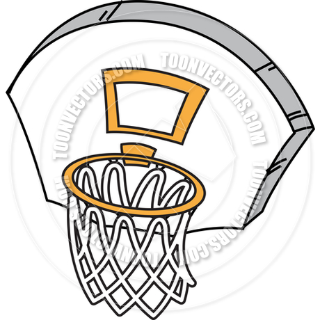 460x460 Basketball Hoop By Kenny Kiernan Toon Vectors Eps