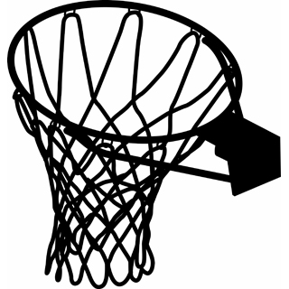 320x320 Drawing Clipart Basketball