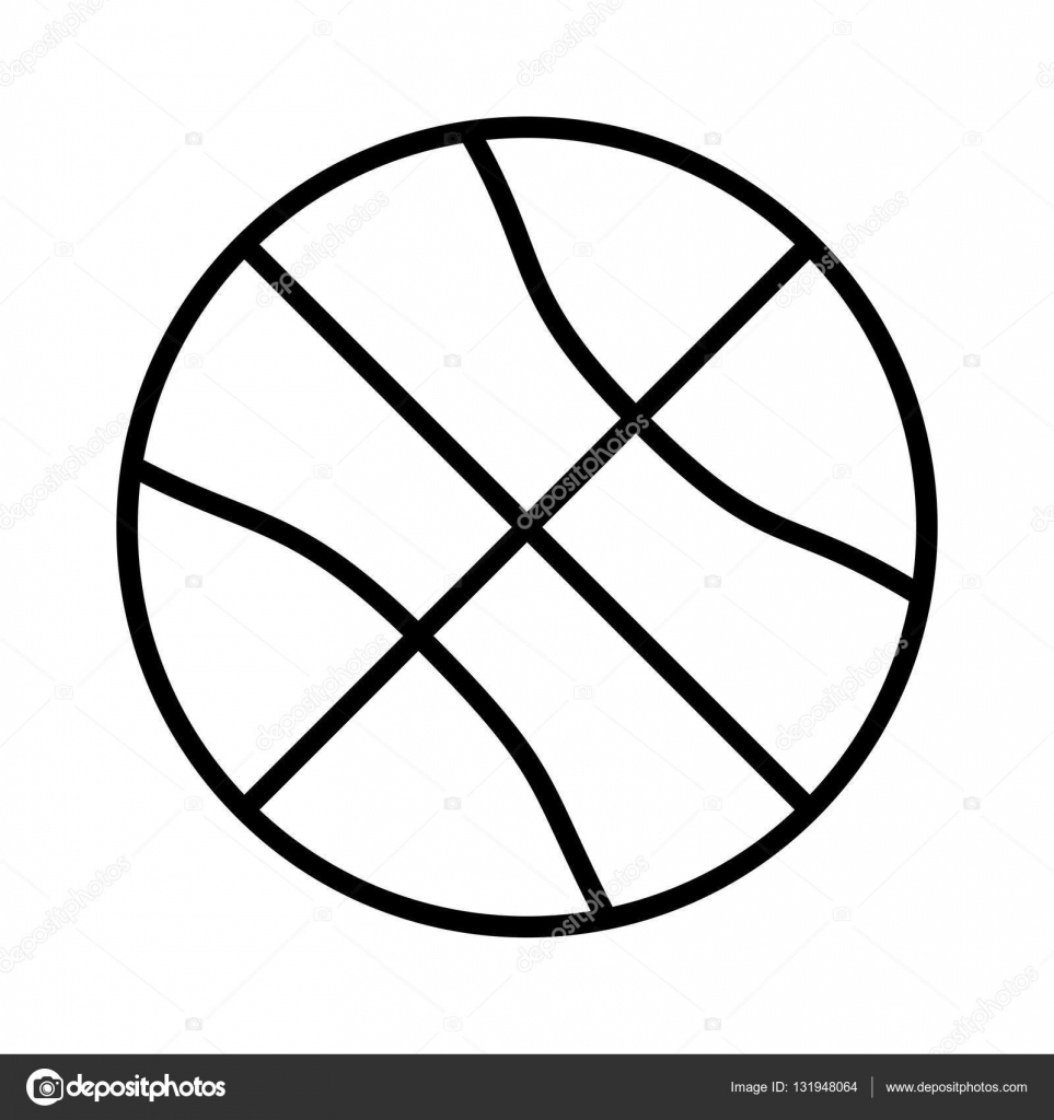 963x1024 Silhouette Monochrome With Basketball Ball Stock Vector