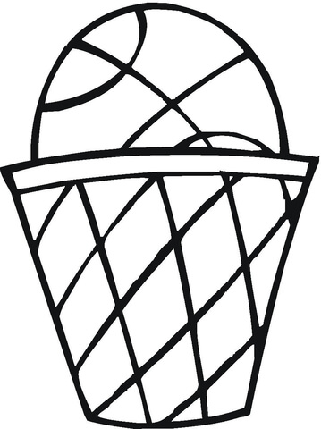 359x480 Basket Ball Coloring Page Free Printable Coloring Pages