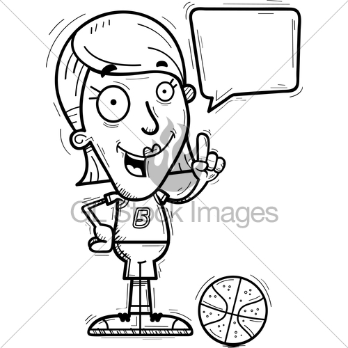 500x500 Cartoon Basketball Player Talking Gl Stock Images