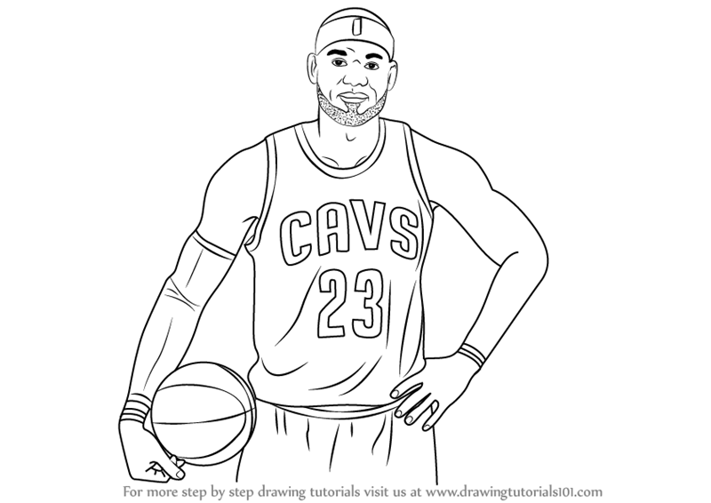 800x566 Learn How To Draw Lebron James (Celebrities) Step By Step