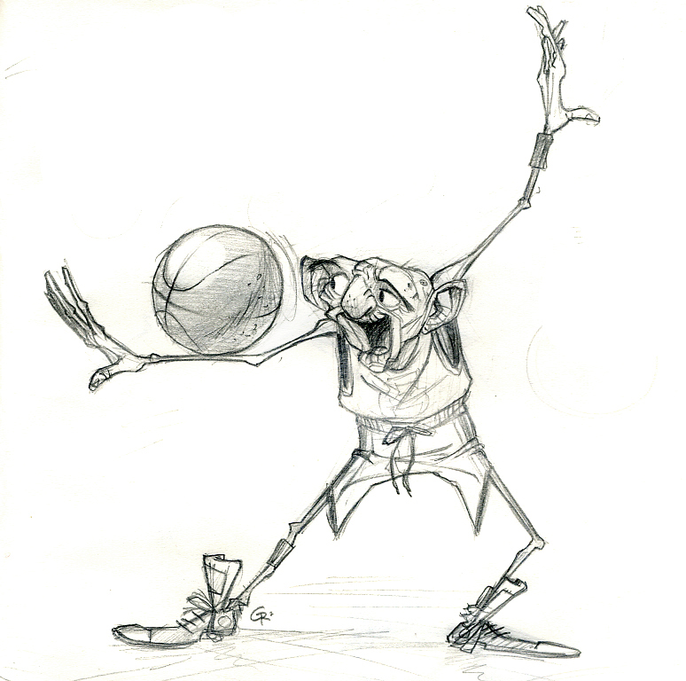 774x768 Old Man Basketball By Guillermoramirez