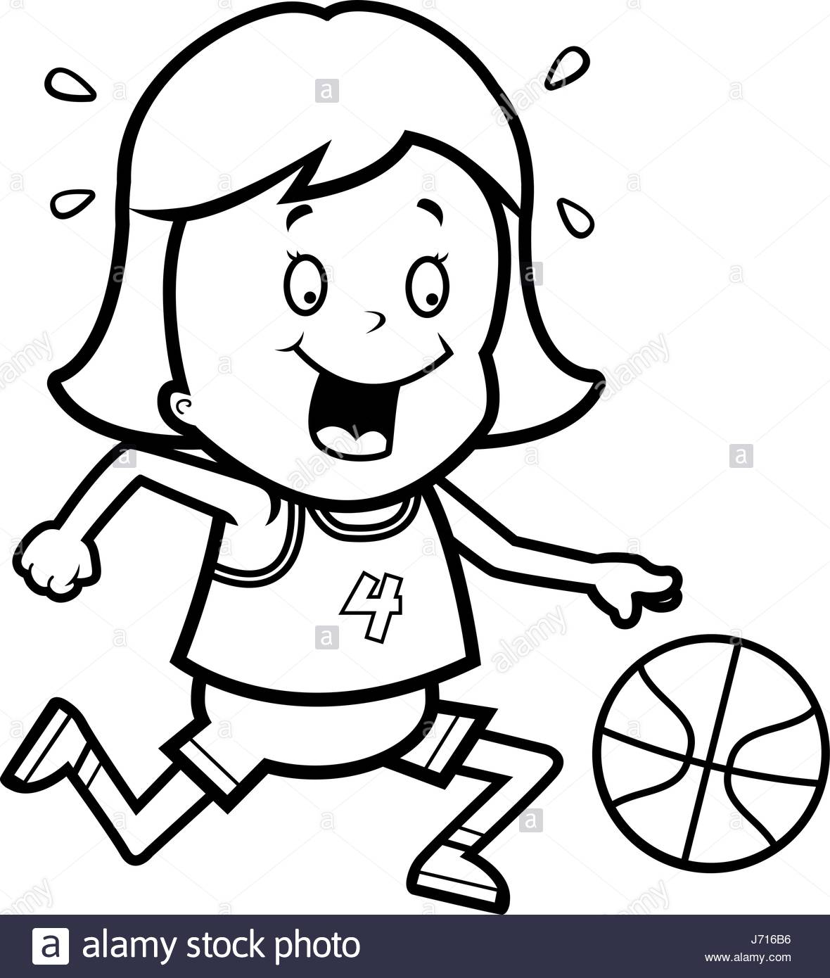 1180x1390 A Cartoon Illustration Of A Child Playing Basketball Stock Vector