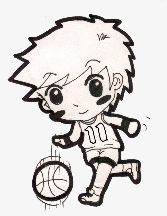 650x838 Boy Playing Basketball, Cartoon, Character, Hand Painted Png Image