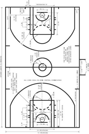 Basketball Court Drawing