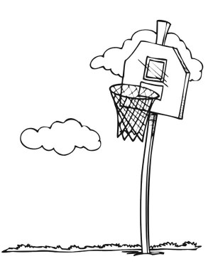 300x388 Basketball Court Coloring Pages