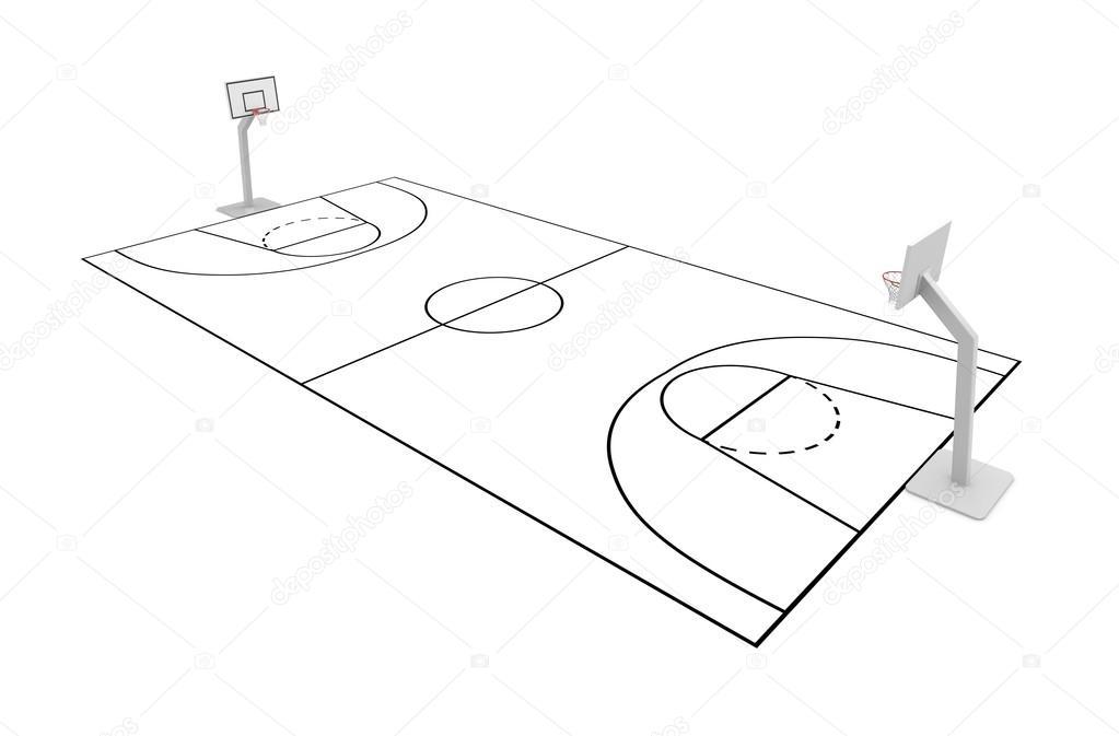 1023x673 Basketball Court Stock Photo