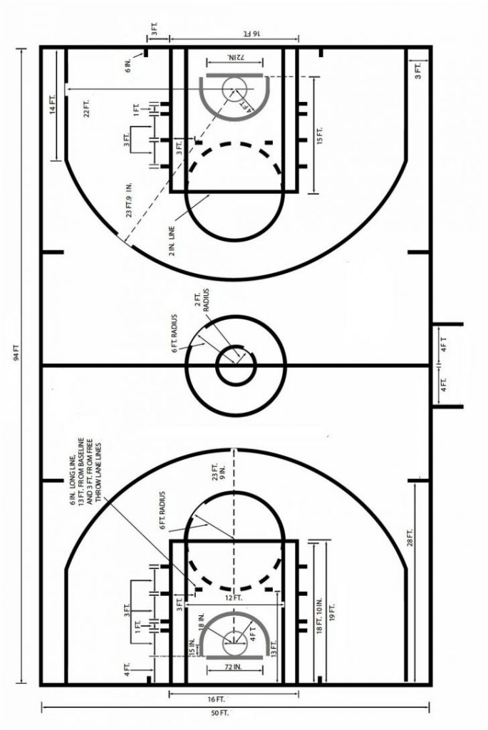 Basketball Court Drawing At Getdrawings Free For Personal Use