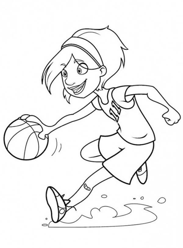 600x810 Basketball Court Coloring Pages