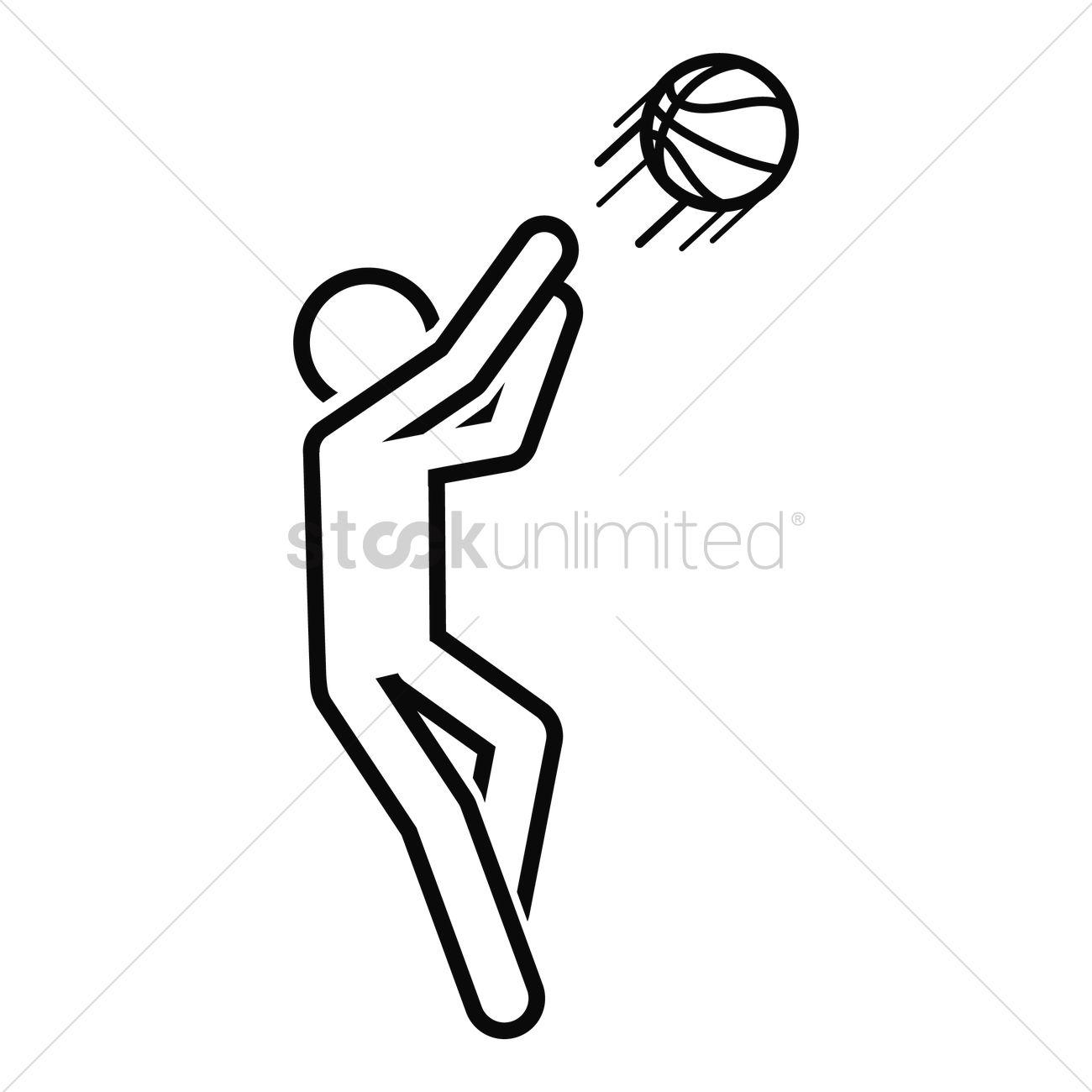 1300x1300 Basketball Player Vector Image