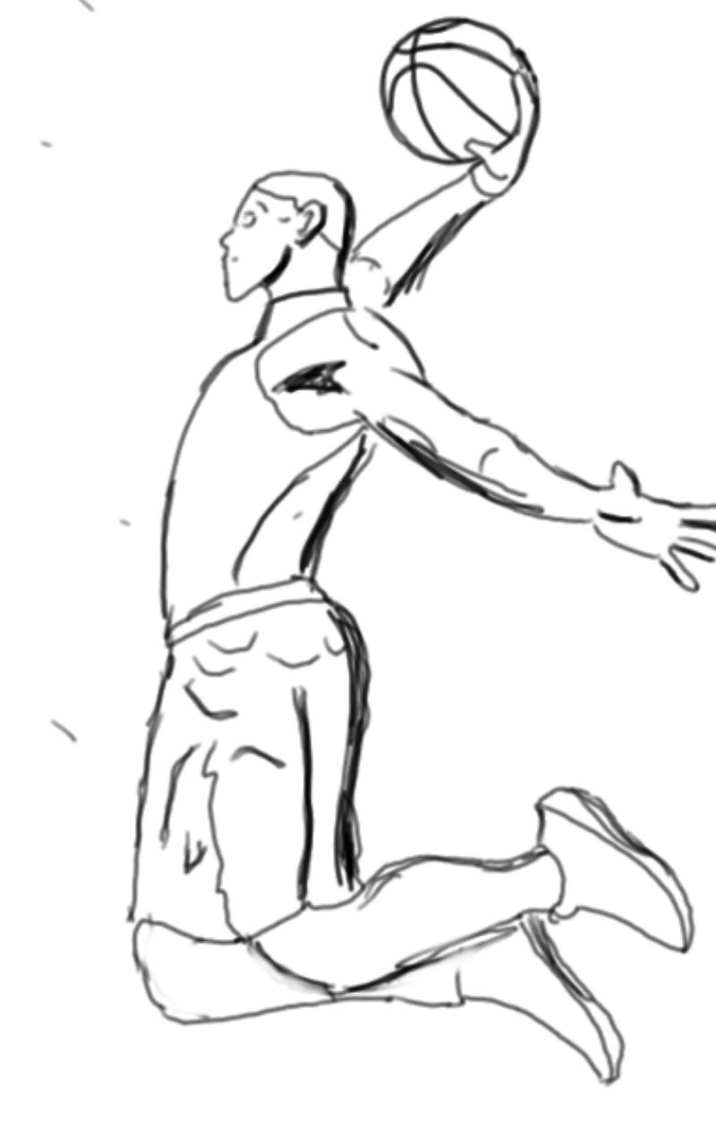 800x1280 Sketch Basketball Baloncesto By Linedrawsai