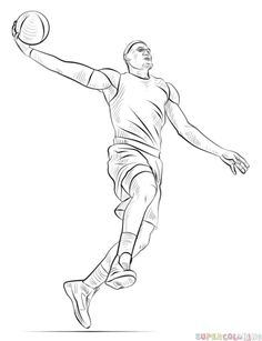 236x307 Basketball Sketch ) Parties Sketches, Drawings