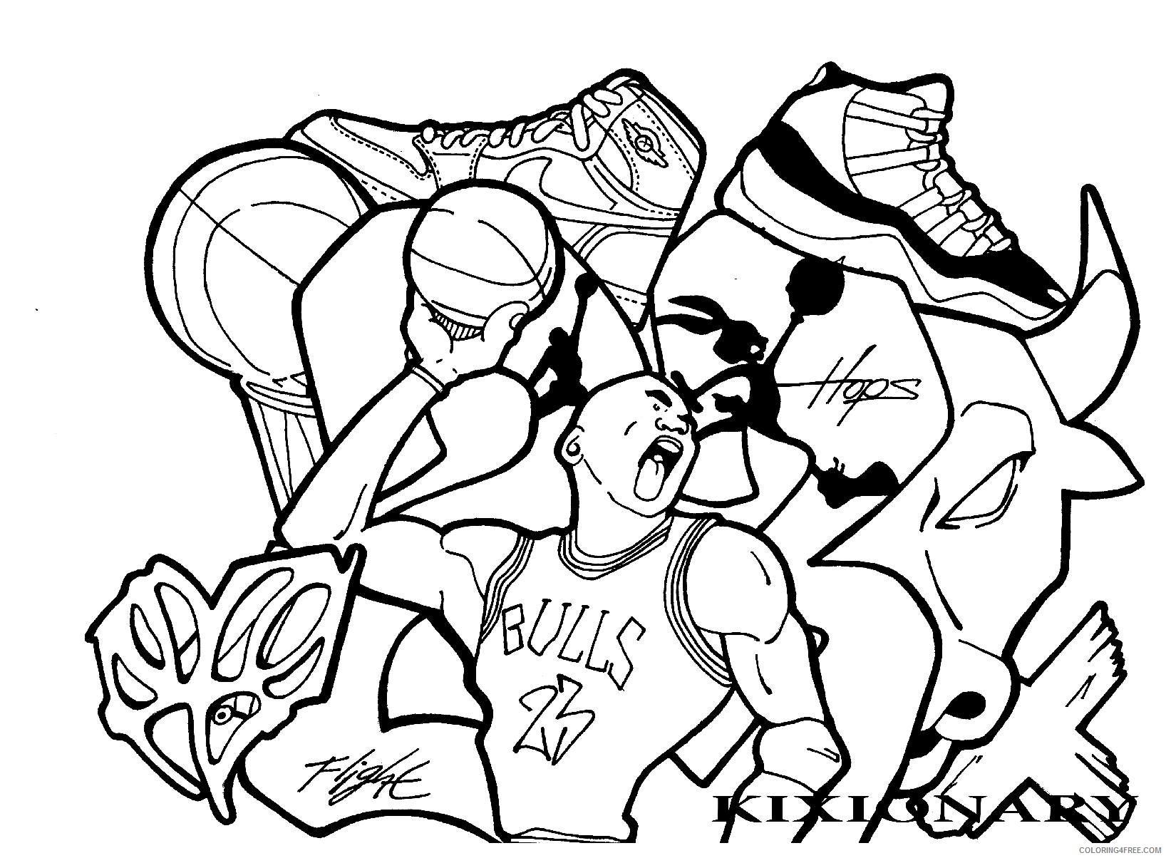 1636x1204 Graffiti Basketball Drawing Graffiti Coloring Pages Basketball By