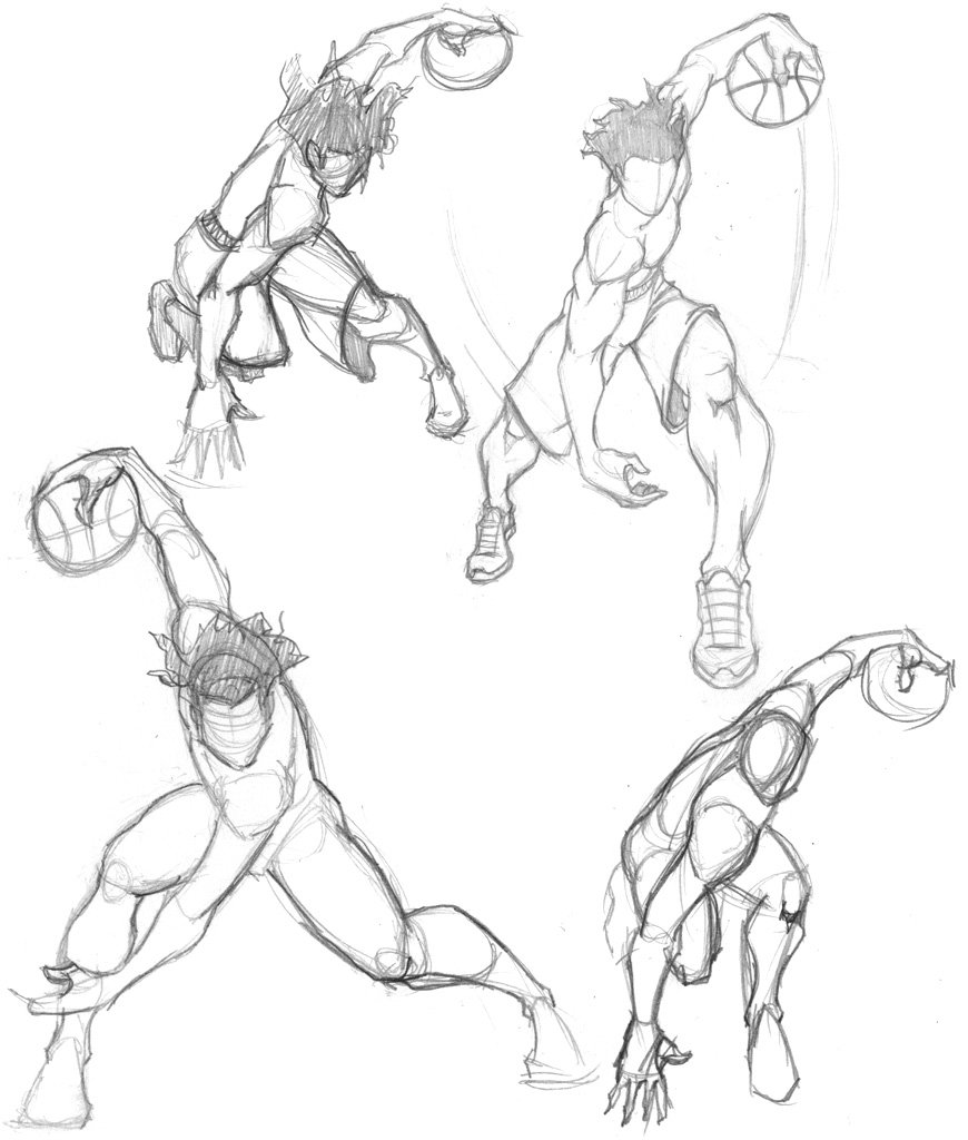 870x1024 Basketball Sketches By Fatratking Drawings