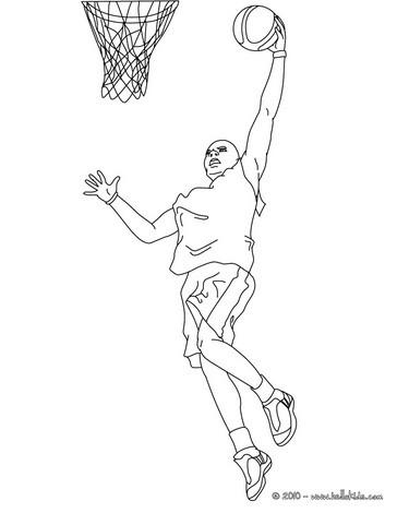 364x470 Basketball Jump Shot Coloring Pages