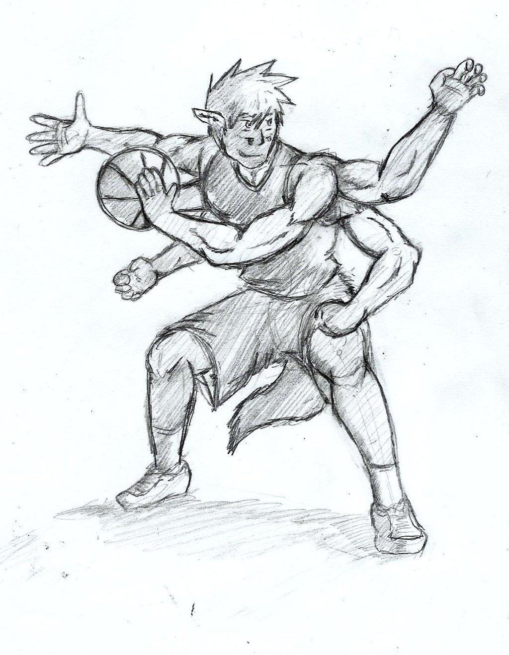 1024x1318 Basketball Pose 2 By Gingatokkyu