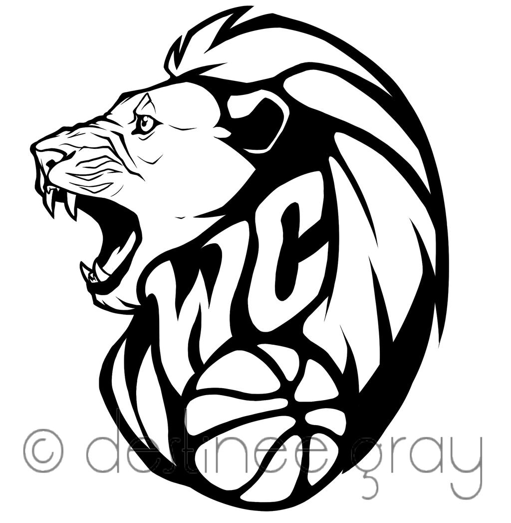 1024x1047 Cool Basketball Drawings Wc Lion Basketball Logoiraynebow
