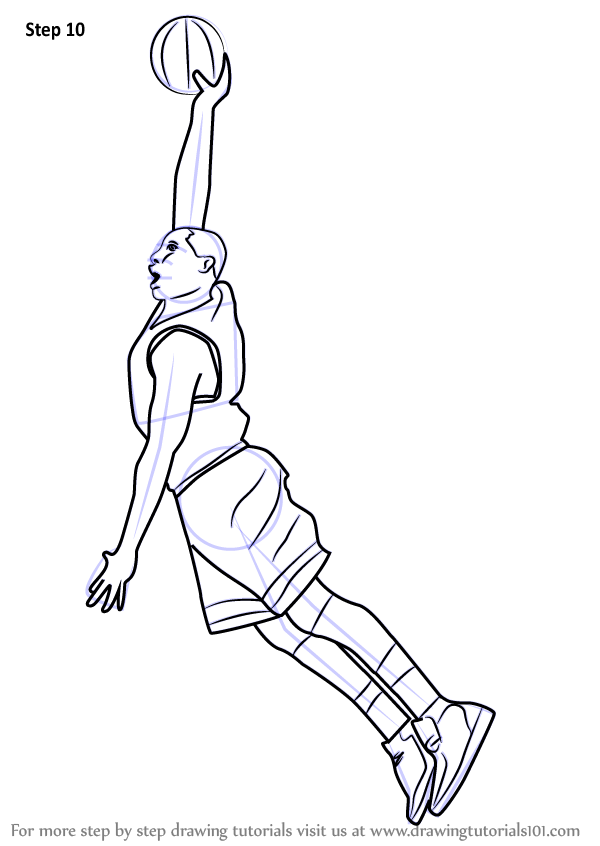 600x846 Learn How To Draw Basketball Player (Other Occupations) Step By
