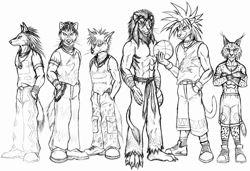 800x549 Street Basketball Group By Wolflsi