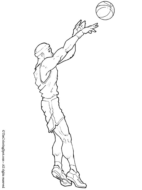 540x720 Basketball Player Audio Stories For Kids Amp Free Coloring Pages