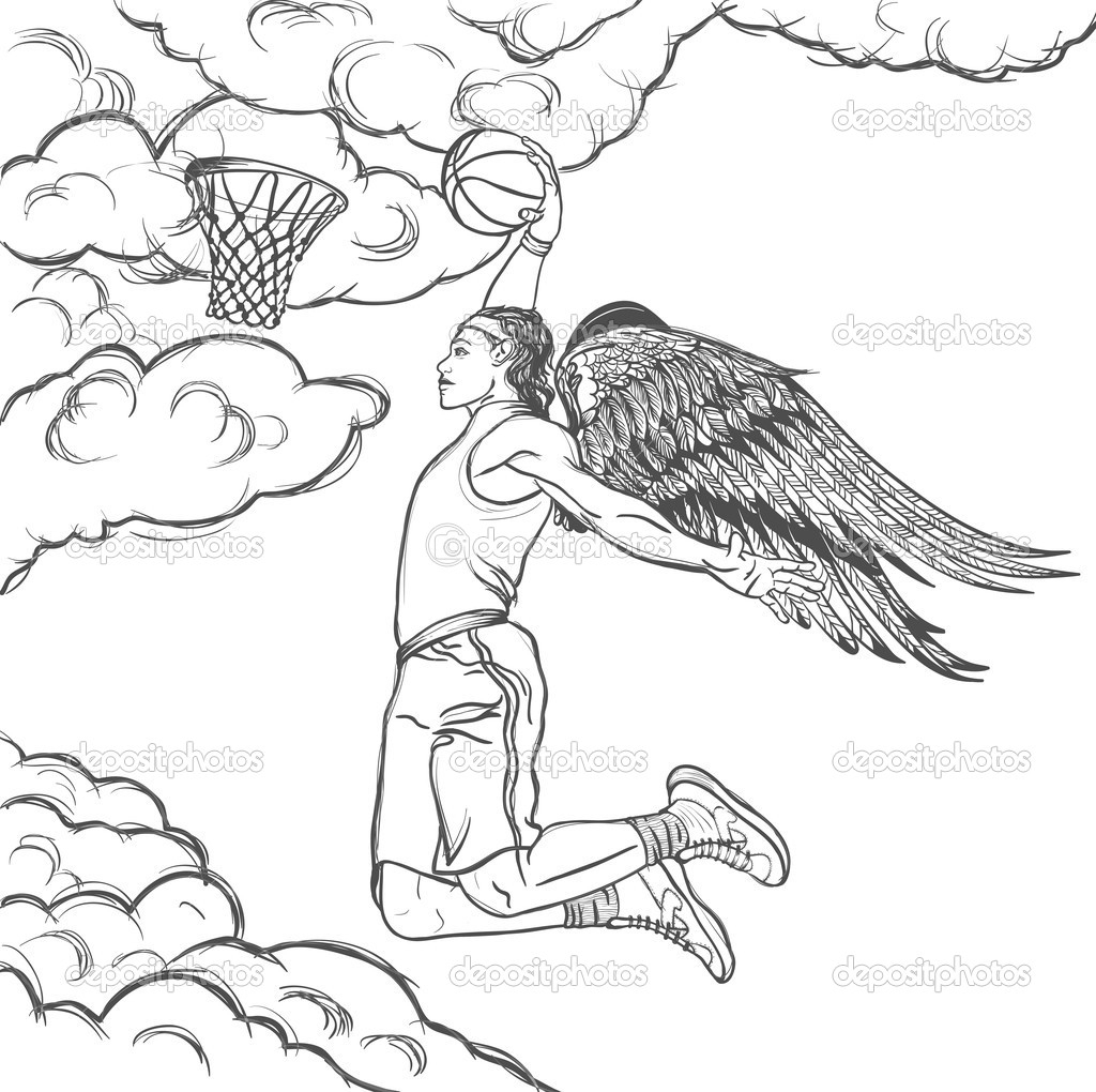 1024x1020 Drawing Of Basketball Player How To Draw A Basketball Player Step