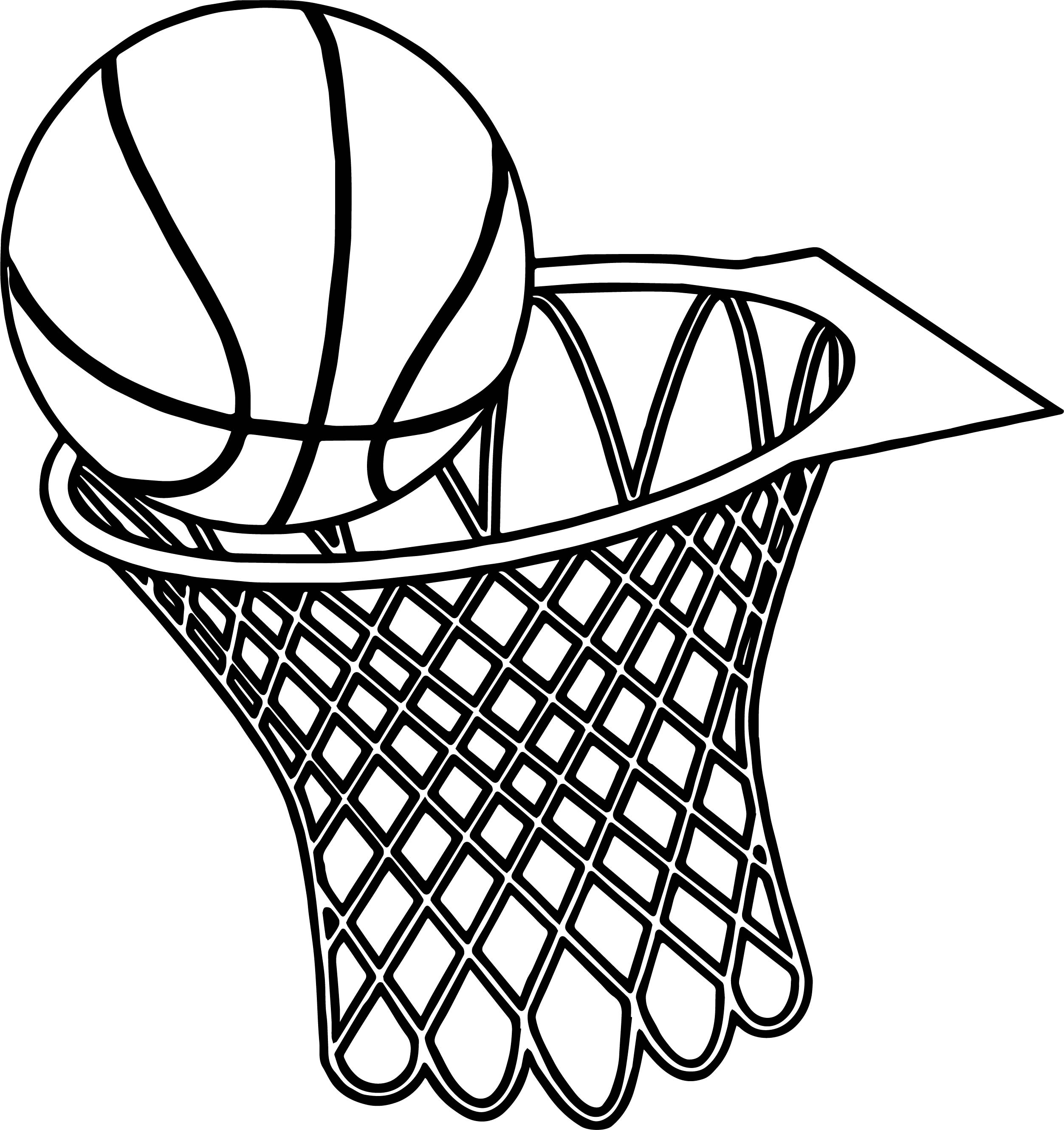 Line Drawing Net : Basketball goal drawing at getdrawings free for