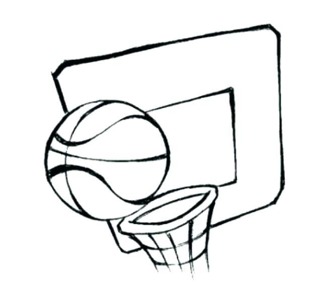 618x577 Basketball Hoop Coloring Page Pages Free Printable For Color