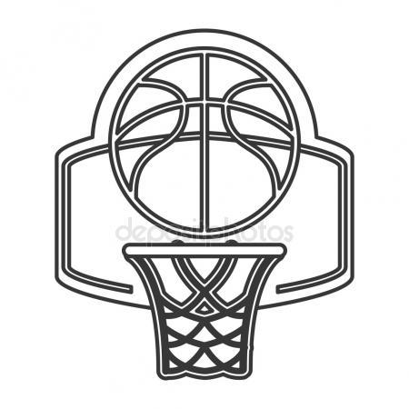 450x450 Basketball Backboard And Ball Stock Vector Gomolach