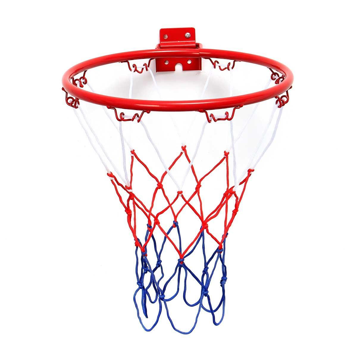 1200x1200 32cm45cm Wall Mounted Hanging Basketball Goal Hoop Rim Net Metal