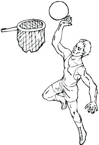 328x480 Good Basketball Hoop Coloring Page Best